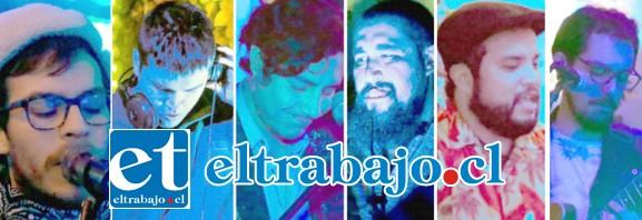 POR AQUÍ PASAN AVIONES.- Diego Kraemer, Tecladista y voces; Alejandro Arévalo, Músico pianista y compositor; Franz Kraemer, Músico; Ricardo Arévalo, Baterista; Francisco Aránguiz Percusionista y Marcelo San Martín en la Guitarra eléctrica, estarán este sábado haciendo temblar el escenario.