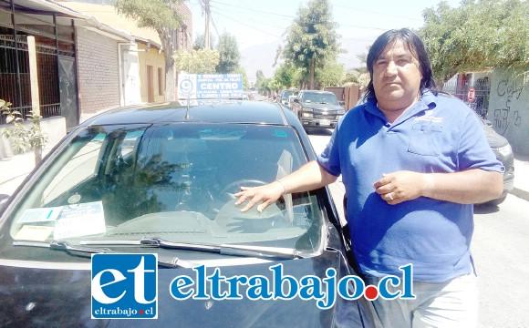 Juan Torrejón, presidente de los conductores independientes de la locomoción colectiva.