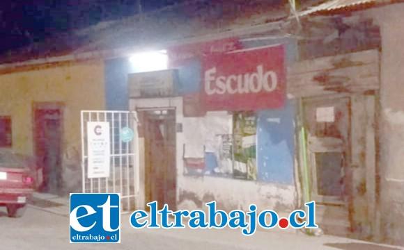 El minimarket afectado se ubica en calle San Fernando de la comuna de Santa María.