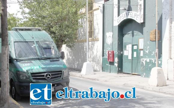 El delito fue denunciado por gendarmes del Centro de Cumplimiento Penitenciario de San Felipe la tarde de este martes.