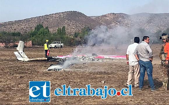El lamentable accidente aéreo se registró cerca de las 09:20 horas del viernes en Colina.