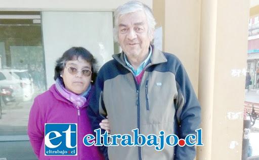 Patricio Jofre y su esposa María Elena quienes actualmente se encuentran en cuarentena.