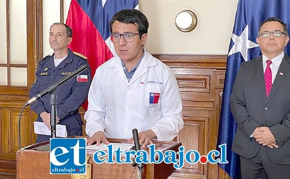 Francisco Alvarez, Seremi de Salud de la Quinta Región.