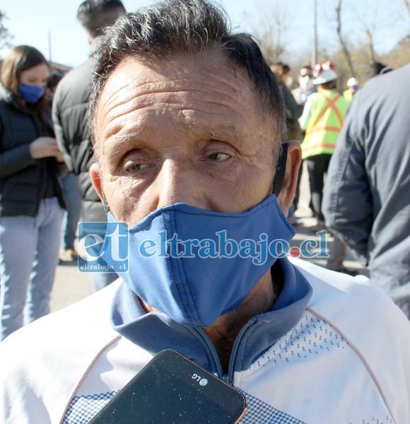 Salvador Hurtado, delegado de la junta vecinal de Tierras Blancas.
