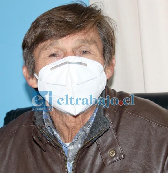 Presidente de la Cooperativa de Agua Potable La Troya, Humberto González Mondaca.