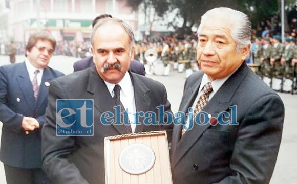 HOMBRES VISIONARIOS.- Con el ahora exalcalde Jaime Amar don Alberto supo cumplir a cabalidad con sus funciones en Vialidad.
