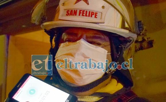 Comandante de Bomberos de San Felipe Juan Carlos Herrera Lillo.