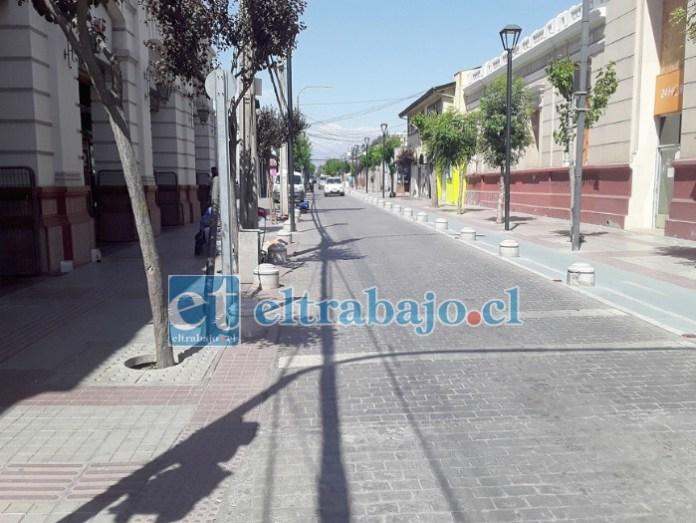 Esta es la calle donde quieren instalarse los 45 comerciantes ambulantes de San Felipe (Prat entre Toro Mazote y Portus)