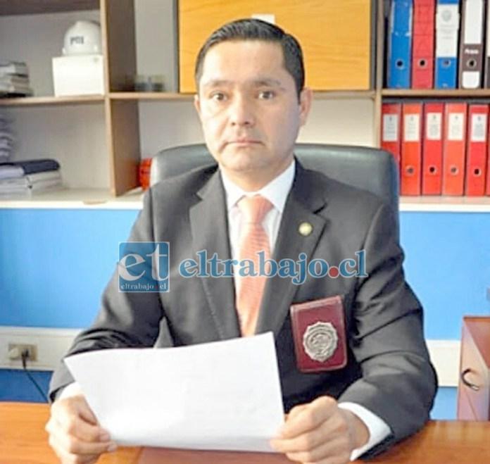 Marcelo Lazen, jefe de la Brigada de Homicidios de la PDI. (Archivo)