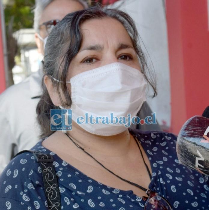Giovanna Viveros Cortés, presidenta de la Asociación de Funcionarios de la Educación de San Felipe (Afesan).