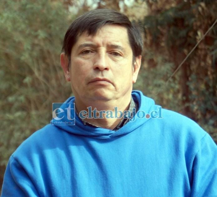 Vicente Saavedra, representante del sector Cerro Yevide.