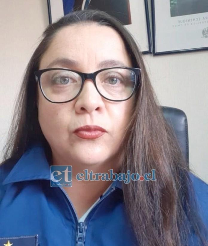 Jefa de la Brigada de Delitos Sexuales de la PDI Los Andes, comisaria María Ester Muñoz Maulén.