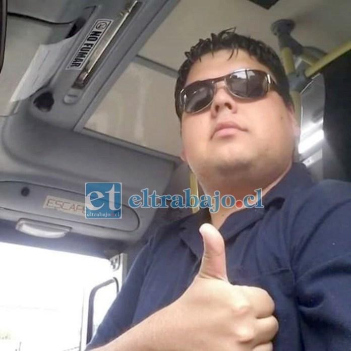Rodrigo Mallea Donoso, joven conductor de Buses Ahumada que sufrió un accidente y la pérdida de su pierna derecha.