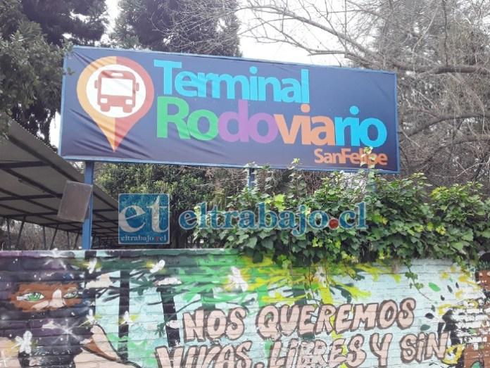 Terminal de Buses Rodoviario de San Felipe, donde presuntamente se cometió el abuso sexual por parte del guardia.