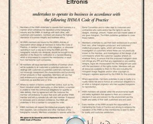 IHMA Certificate