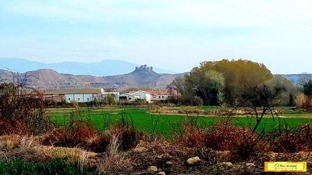 Paisaje del castillo de Montearagón en Huesca