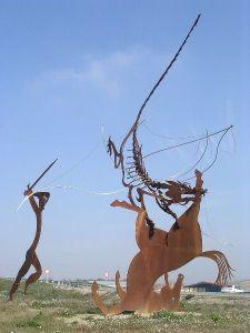 Estatua San Jorge y el dragón Huesca