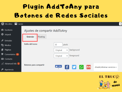 Plugin AddToAny WordPress