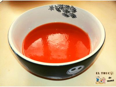 Receta de gazpacho para niños