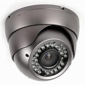 """Day and Night (D&N), sötétben is """"látó"""" infravörös megvilágítókkal szerelt kamera 2, mennyezeti kivitel, ún. Dome - CCTV kamerás megfigyelő-rendszerek"""