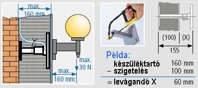 Felhasználási info - 1159-20 - Kaiser teleszkópos készüléktartó