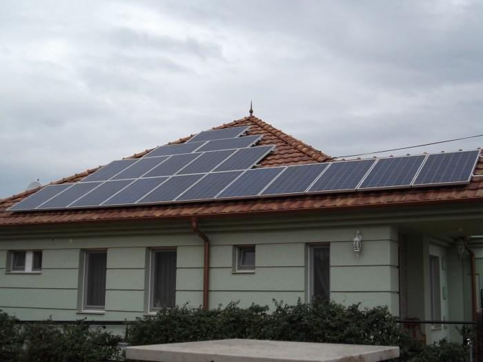 Pálmonostora, 5 kW-os napelem rendszer