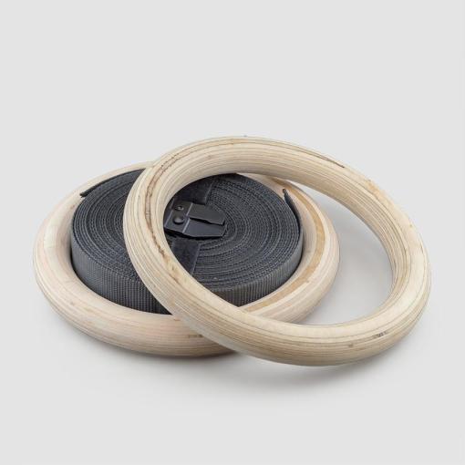 ELUIR Gymnastic Rings - Wooden (FIG Standard)