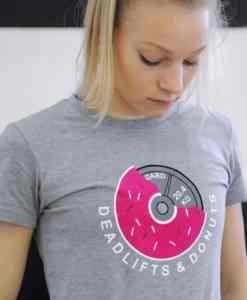ELUIR T-Shirt Ladies deadlift & donuts