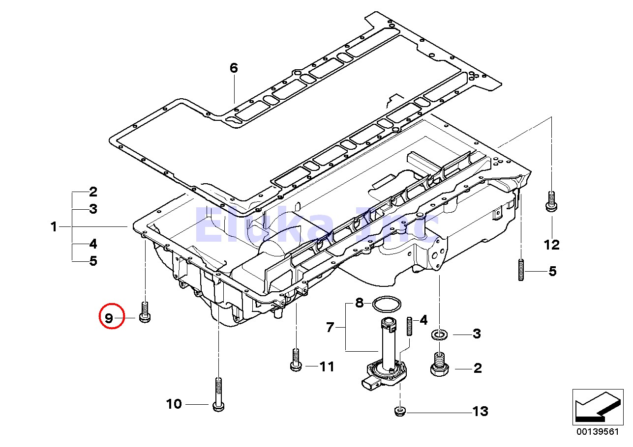 Bmw Genuine Lubrication System Engine Oil Pan Bolt With