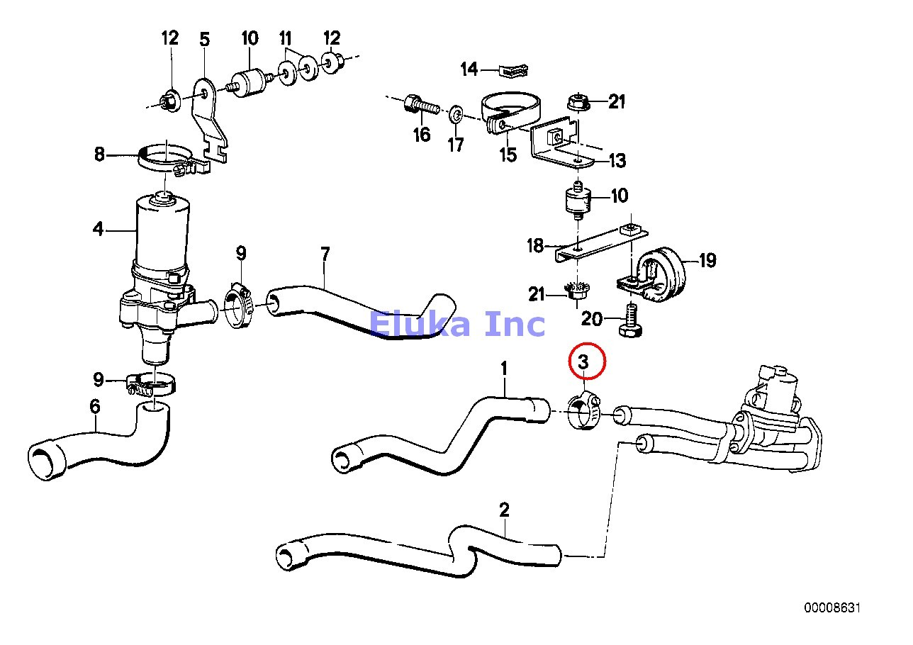 Bmw Genuine Air Duct Cylinder Head Engine Fuel Injection