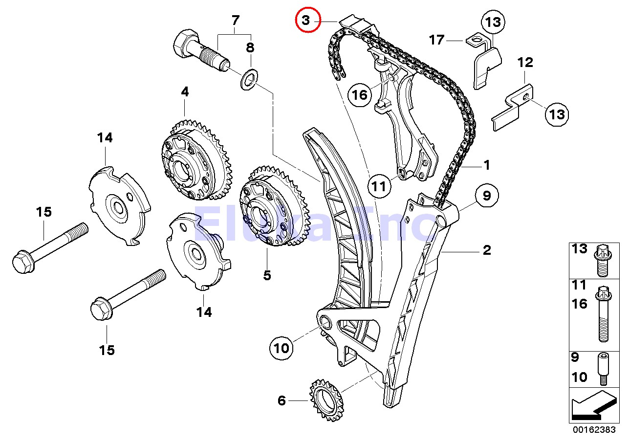 Bmw Genuine Valve Timing Train Timing Chain Rail Slide
