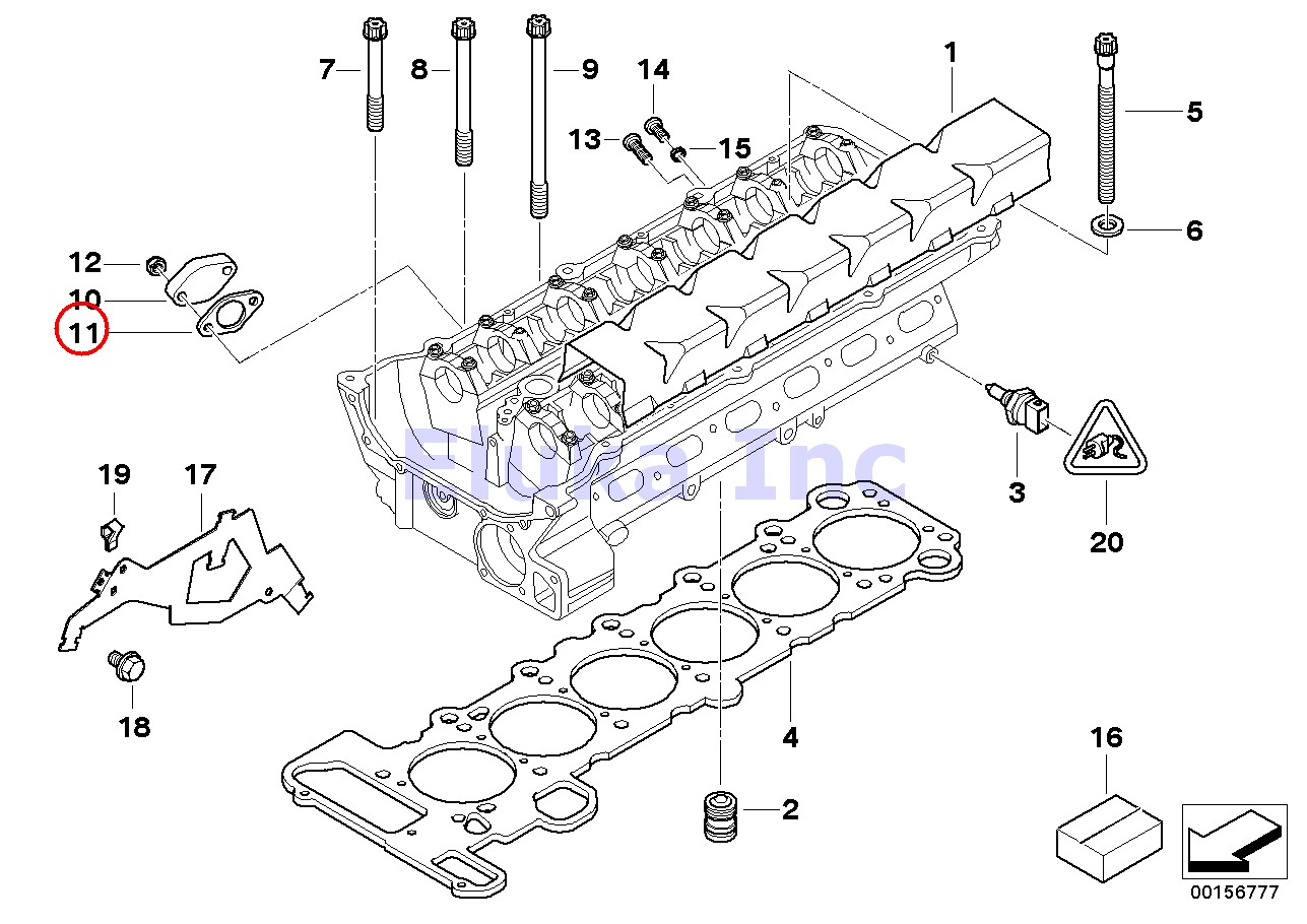 Bmw Genuine Cylinder Head Secondary Air Injection Control