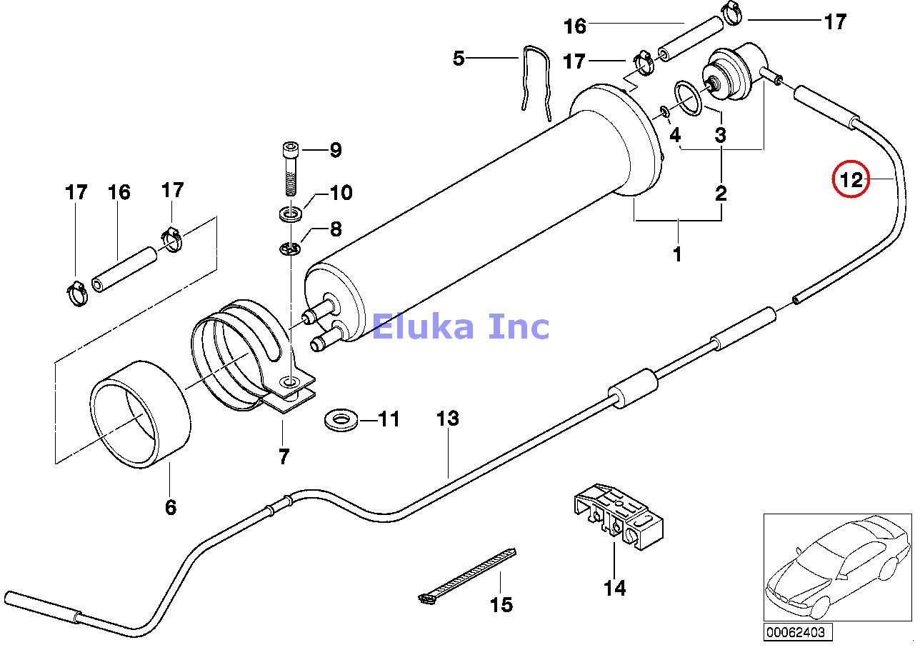 Bmw Genuine Fuel Filter Pressure Regulator Vacuum Pipe E38