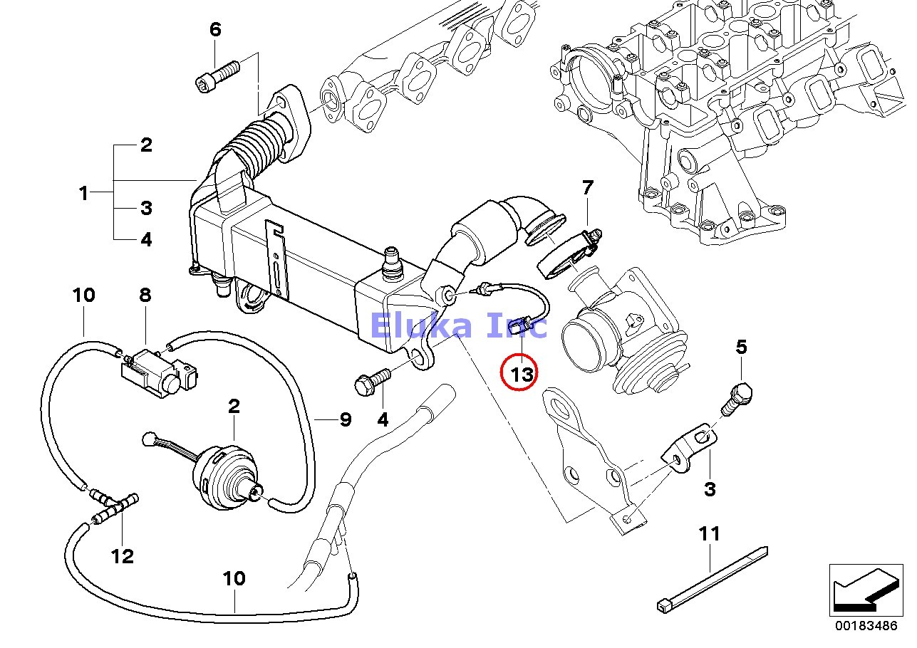 Bmw Genuine Exhaust Manifold Fuel Injection Intake