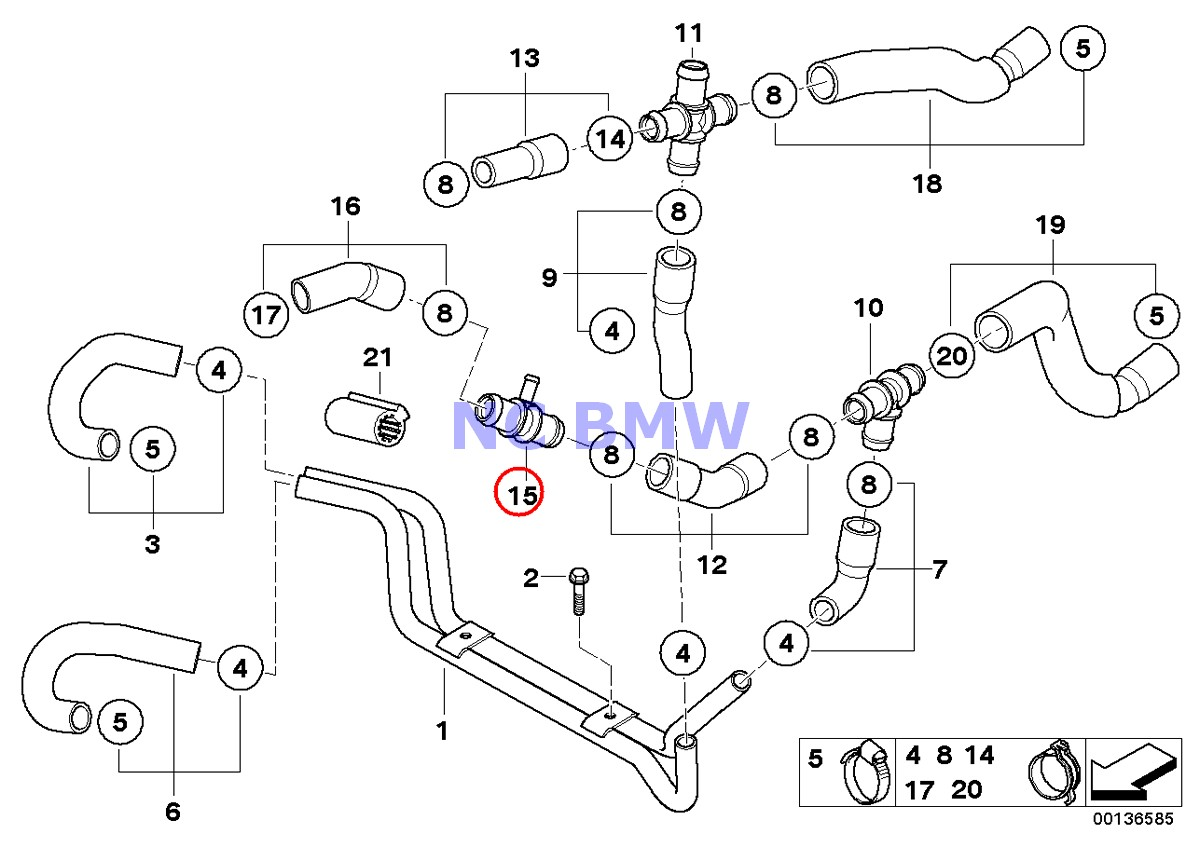 Bmw Mini Genuine Coolant Water Hose T Connector 3 Way