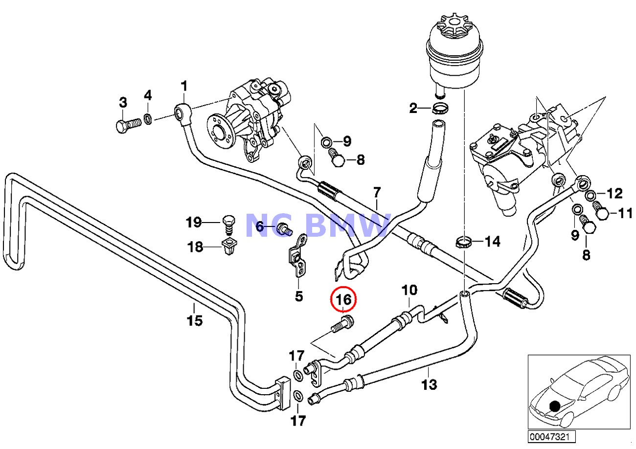 BMW Genuine Engine Transmission Oil Cooler Pipe Heat Screw