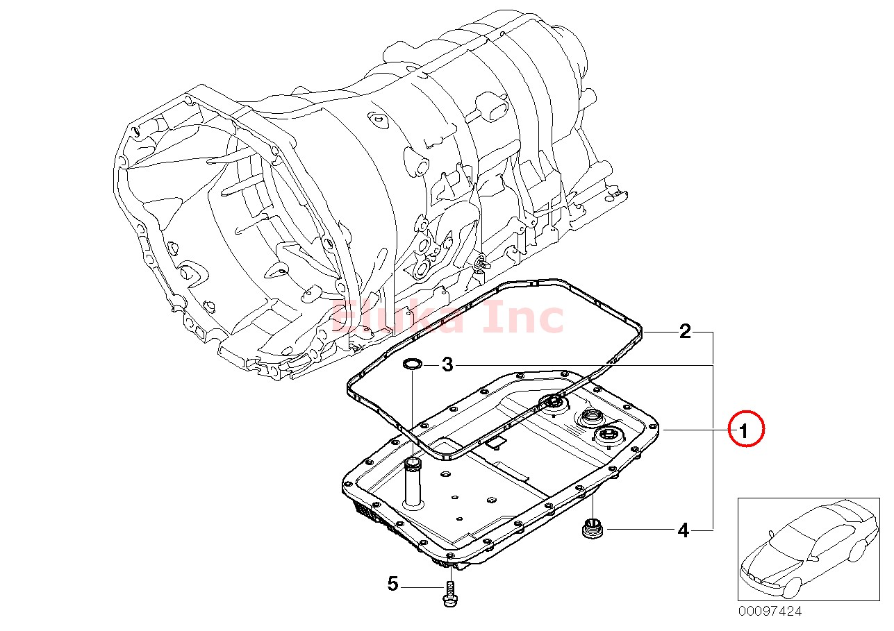 BMW Automatic Transmission Oil Pan and Filter Kit E60 E60N