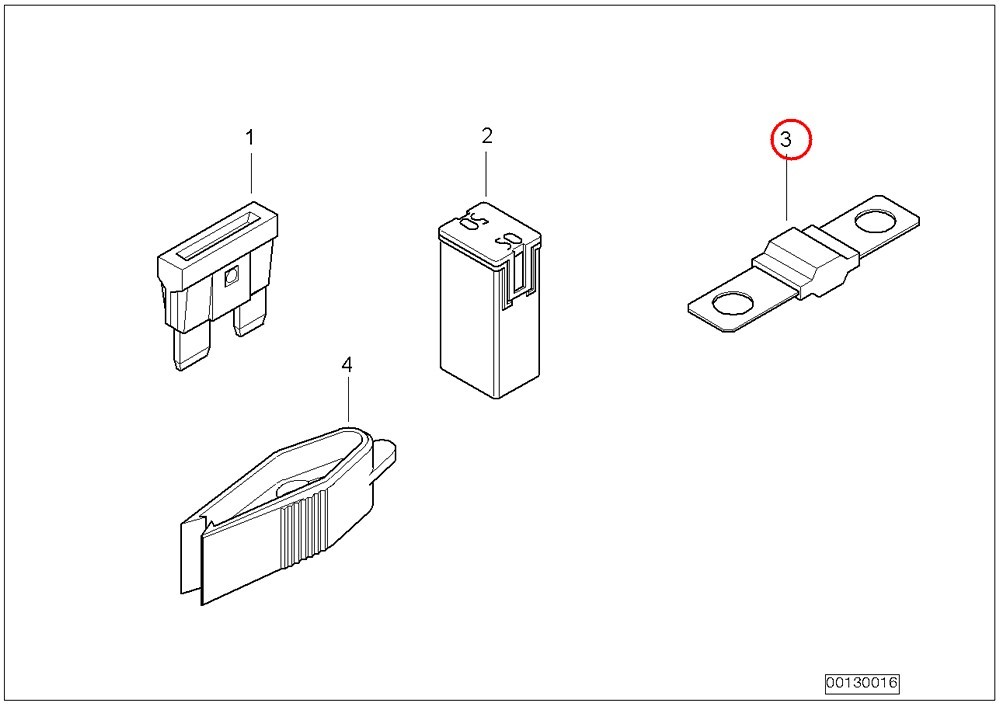 BMW Genuine Single Components For Fuse Housing Circlip 50A