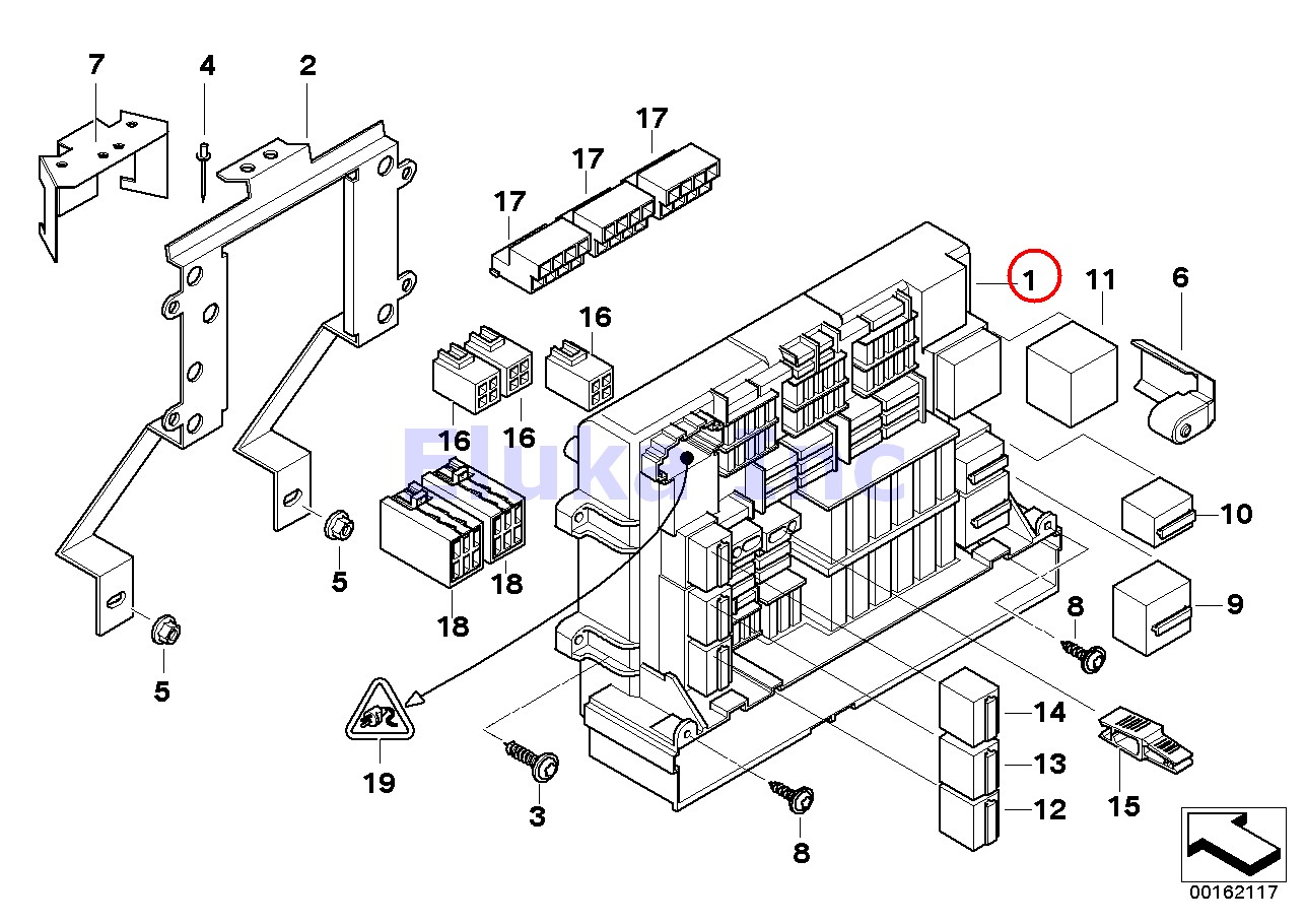 hight resolution of details about bmw genuine fuse box power distribution box front e90 e91 e92 e93