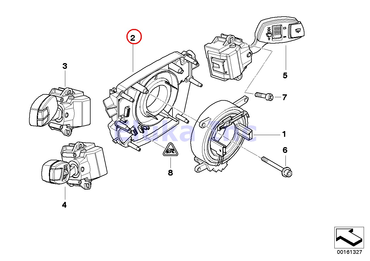 Bmw Genuine Slip Ring Base Clockspring Switch Unit
