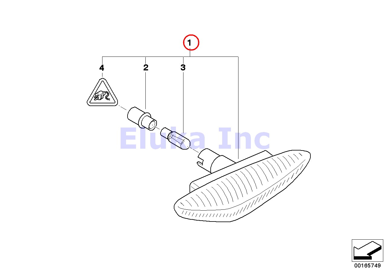 Bmw Genuine Additional Side Marker Light With White Lens