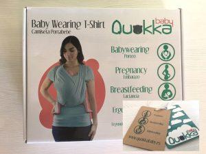 camiseta de porteo quokkababy packaging