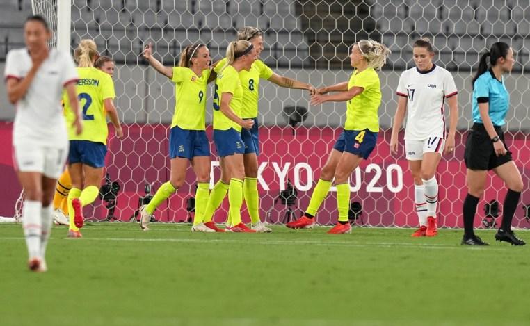 Tokio 2020: Suecia golea a Estados Unidos en la primera jornada del futbol  femenil