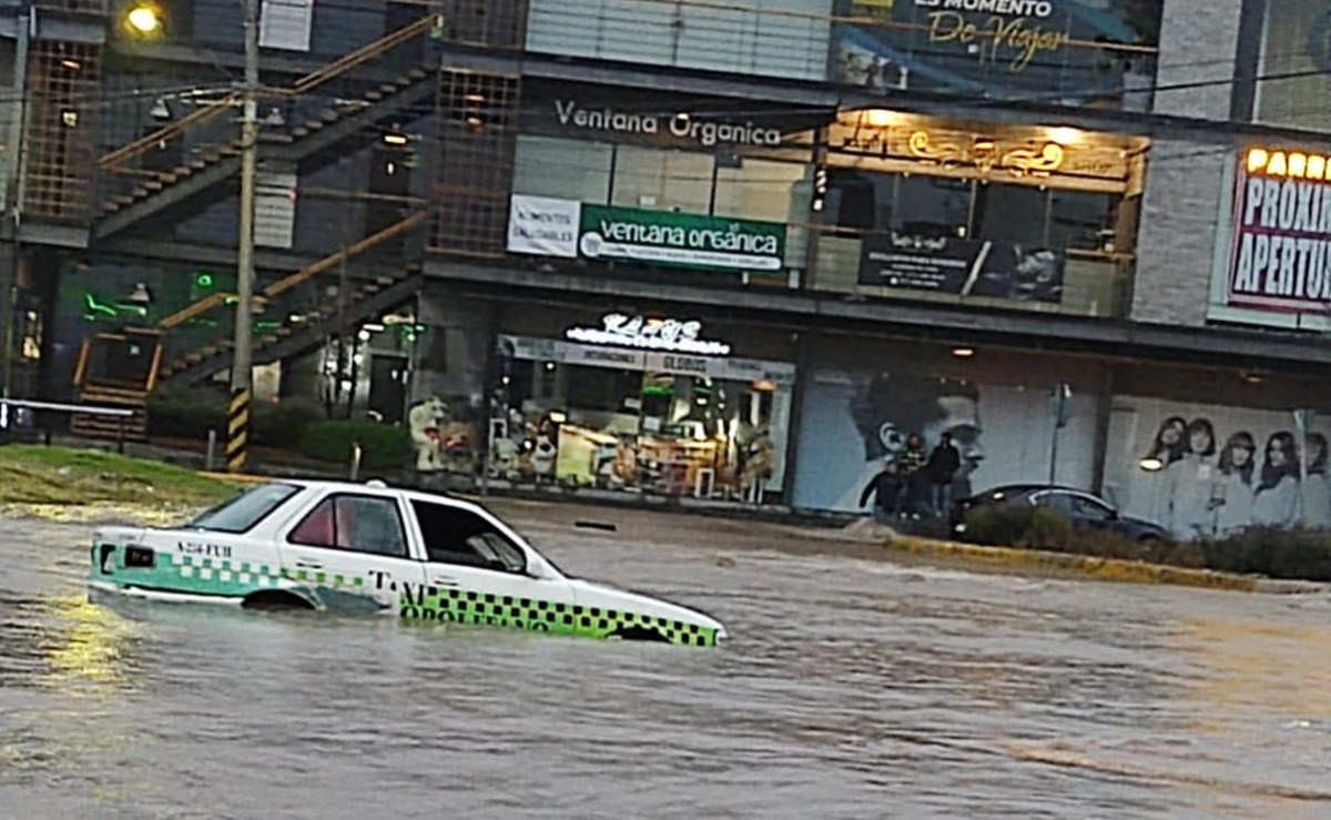 Inundación por Huracán Grace en Hidalgo.