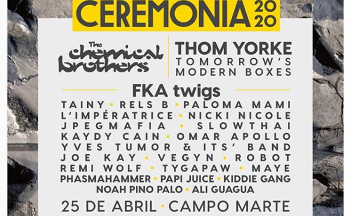 Thom Yorke Y The Chemical Brothers Encabezan El Ceremonia 2020