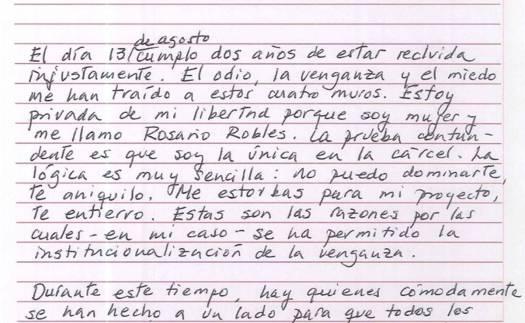 Odio y venganza, las causas de mi encarcelamiento por dos años: Rosario Robles