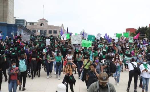 Minuto a minuto marcha feminista hoy por el aborto en CDMX