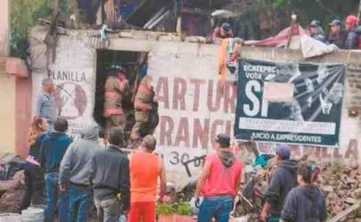 """""""Pensaba que era lo último"""", dice hombre rescatado entre toneladas de lodo tras deslave en Ecatepec"""