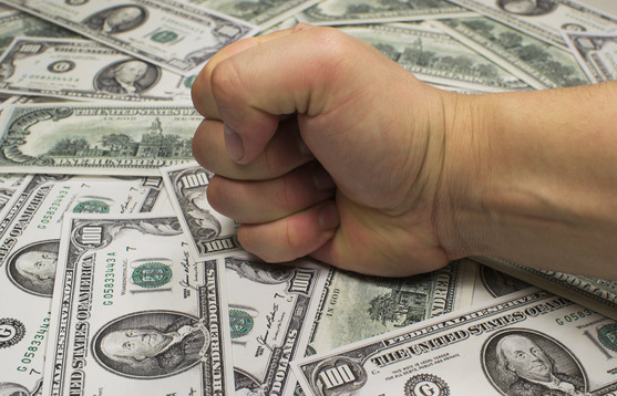 Money and fist