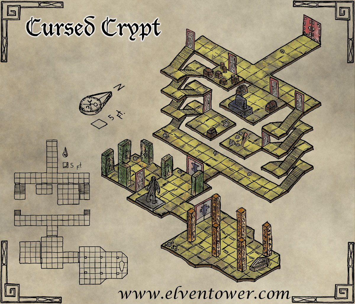 Map 46 Cursed Crypt Elven Tower Elven Tower